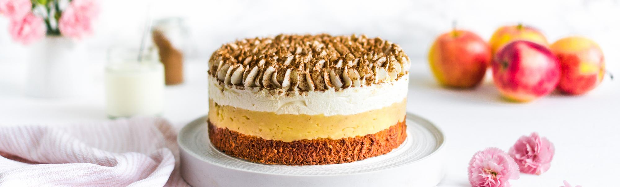 Bratapfel-Quark Torte